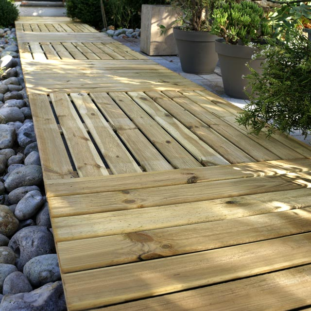 Dalles bois terrasse 1mx1m for Terrasse en dalle bois